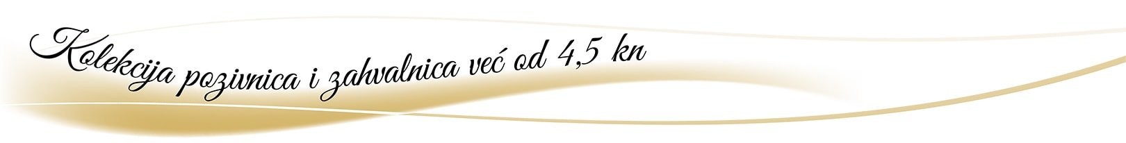 Kolekcija pozivnica i zahvalnica već od 4,5kn