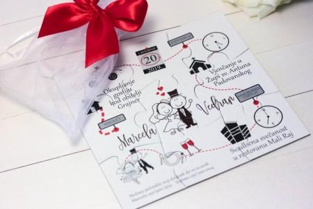 pozivnice i zahvalnice za vjencanje pozivnice puzzle crvene (14)