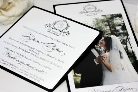 crno bijele pozivnice zahvalnice za vjecanje decentne jedostavne elegantne 21 (15)