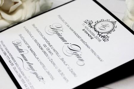 crno bijele pozivnice zahvalnice za vjecanje decentne jedostavne elegantne 21 (18)